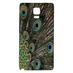 Close Up Of Peacock Feathers Galaxy Note 4 Back Case