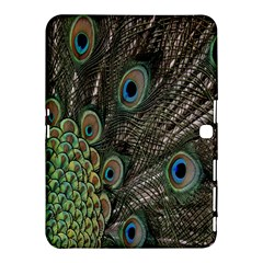 Close Up Of Peacock Feathers Samsung Galaxy Tab 4 (10 1 ) Hardshell Case