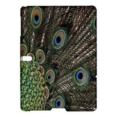 Close Up Of Peacock Feathers Samsung Galaxy Tab S (10 5 ) Hardshell Case  by Nexatart