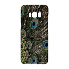 Close Up Of Peacock Feathers Samsung Galaxy S8 Hardshell Case