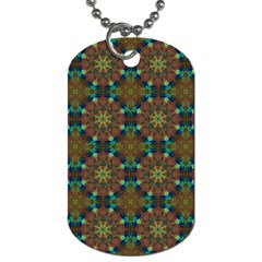 Seamless Abstract Peacock Feathers Abstract Pattern Dog Tag (one Side)