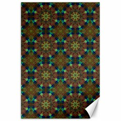 Seamless Abstract Peacock Feathers Abstract Pattern Canvas 20  X 30