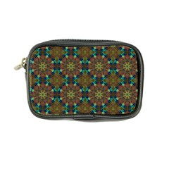 Seamless Abstract Peacock Feathers Abstract Pattern Coin Purse