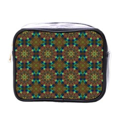 Seamless Abstract Peacock Feathers Abstract Pattern Mini Toiletries Bags