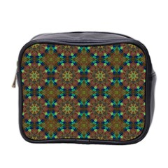 Seamless Abstract Peacock Feathers Abstract Pattern Mini Toiletries Bag 2 Side by Nexatart