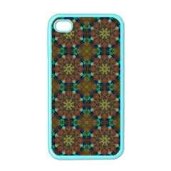 Seamless Abstract Peacock Feathers Abstract Pattern Apple Iphone 4 Case (color) by Nexatart