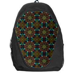 Seamless Abstract Peacock Feathers Abstract Pattern Backpack Bag by Nexatart