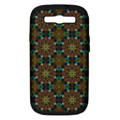 Seamless Abstract Peacock Feathers Abstract Pattern Samsung Galaxy S Iii Hardshell Case (pc+silicone) by Nexatart