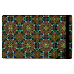 Seamless Abstract Peacock Feathers Abstract Pattern Apple Ipad 2 Flip Case by Nexatart