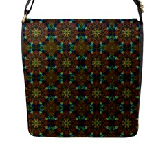 Seamless Abstract Peacock Feathers Abstract Pattern Flap Messenger Bag (l)  by Nexatart