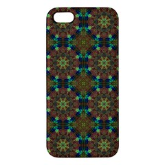 Seamless Abstract Peacock Feathers Abstract Pattern Iphone 5s/ Se Premium Hardshell Case by Nexatart