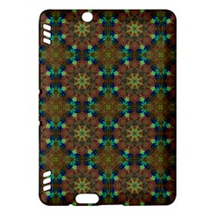 Seamless Abstract Peacock Feathers Abstract Pattern Kindle Fire Hdx Hardshell Case by Nexatart