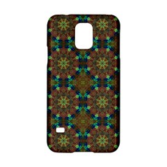 Seamless Abstract Peacock Feathers Abstract Pattern Samsung Galaxy S5 Hardshell Case  by Nexatart