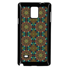 Seamless Abstract Peacock Feathers Abstract Pattern Samsung Galaxy Note 4 Case (black)