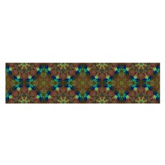Seamless Abstract Peacock Feathers Abstract Pattern Satin Scarf (oblong)