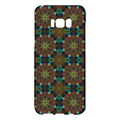 Seamless Abstract Peacock Feathers Abstract Pattern Samsung Galaxy S8 Plus Hardshell Case