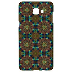 Seamless Abstract Peacock Feathers Abstract Pattern Samsung C9 Pro Hardshell Case