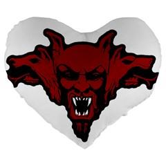 Dracula Large 19  Premium Heart Shape Cushions by Valentinaart
