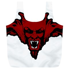 Dracula Full Print Recycle Bags (l)  by Valentinaart