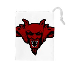 Dracula Drawstring Pouches (large)  by Valentinaart