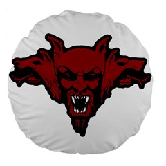 Dracula Large 18  Premium Flano Round Cushions by Valentinaart