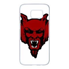 Dracula Samsung Galaxy S7 Edge White Seamless Case by Valentinaart