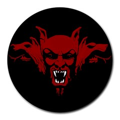 Dracula Round Mousepads by Valentinaart