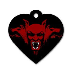 Dracula Dog Tag Heart (one Side) by Valentinaart