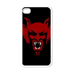 Dracula Apple Iphone 4 Case (white) by Valentinaart