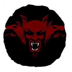 Dracula Large 18  Premium Round Cushions by Valentinaart