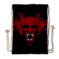 Dracula Drawstring Bag (large) by Valentinaart