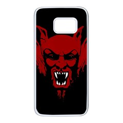 Dracula Samsung Galaxy S7 White Seamless Case by Valentinaart