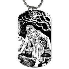 Vampire  Dog Tag (one Side) by Valentinaart
