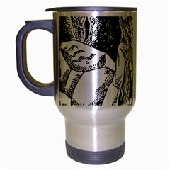 Vampire  Travel Mug (silver Gray) by Valentinaart