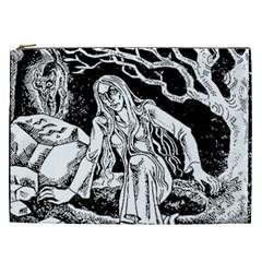 Vampire  Cosmetic Bag (xxl)  by Valentinaart