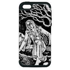 Vampire  Apple Iphone 5 Hardshell Case (pc+silicone) by Valentinaart