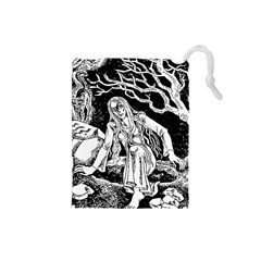 Vampire  Drawstring Pouches (small)  by Valentinaart