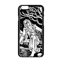 Vampire  Apple Iphone 6/6s Black Enamel Case by Valentinaart