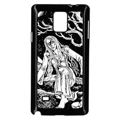 Vampire  Samsung Galaxy Note 4 Case (black) by Valentinaart