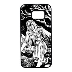Vampire  Samsung Galaxy S7 Black Seamless Case by Valentinaart
