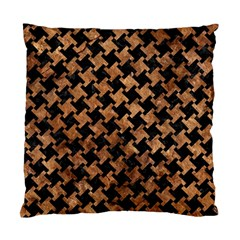 Houndstooth2 Black Marble & Brown Stone Standard Cushion Case (two Sides) by trendistuff