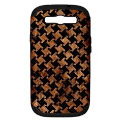 Houndstooth2 Black Marble & Brown Stone Samsung Galaxy S Iii Hardshell Case (pc+silicone) by trendistuff