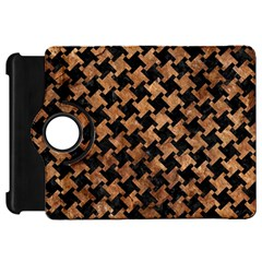 Houndstooth2 Black Marble & Brown Stone Kindle Fire Hd Flip 360 Case by trendistuff