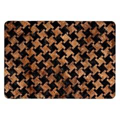 Houndstooth2 Black Marble & Brown Stone Samsung Galaxy Tab 8 9  P7300 Flip Case by trendistuff
