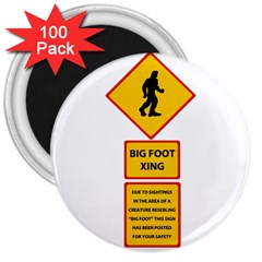 Bigfoot 3  Magnets (100 Pack) by Valentinaart
