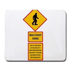 Bigfoot Large Mousepads by Valentinaart