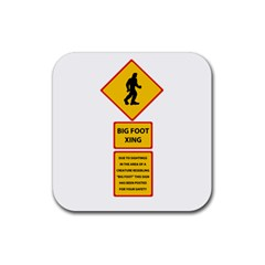 Bigfoot Rubber Square Coaster (4 Pack)  by Valentinaart