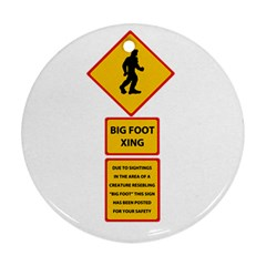 Bigfoot Round Ornament (two Sides) by Valentinaart