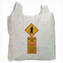 Bigfoot Recycle Bag (one Side) by Valentinaart