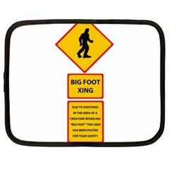 Bigfoot Netbook Case (xxl)  by Valentinaart